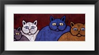 Framed Lounge Cats I