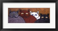 Framed Lounge Cats II