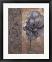 Framed Fleur Bleue I