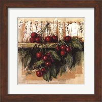Framed Cerises Sur Calligraphie Chinoise