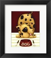 Framed Dinner's in the Dog (Mini)