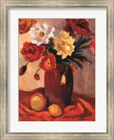 Framed Earthenware Poppies