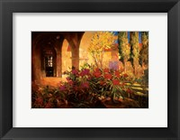 Framed Twilight Courtyard