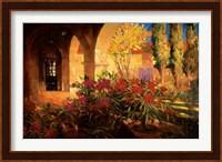 Framed Twilight Courtyard