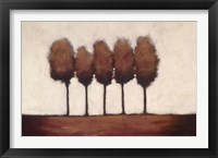 Framed Five Trees