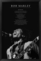 Framed Bob Marley - Iron Lion Zion