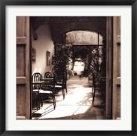Caffe' Spello Framed Print