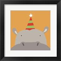 Framed Peek-A-Boo Hippo