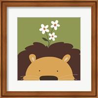Framed Peek-A-Boo Lion