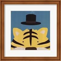 Framed Peek-A-Boo Tiger