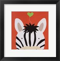 Framed Peek-A-Boo Zebra