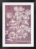 Framed Floral Tapestry III