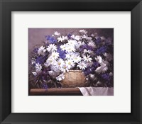 Daisies and Delphiniums Framed Print