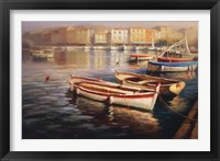 Framed Harbor Morning I