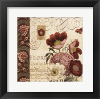 Framed Floral Collage II