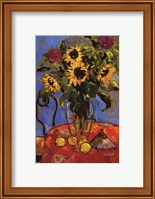 Framed Protea Sunflower and Lemon