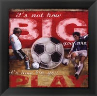 Big Play - Soccer Framed Print