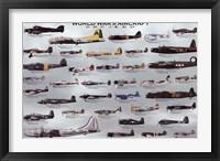 Framed World War II Aircraft