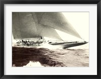 Framed Mariner's Museum - Rainbow's Finish 1934 Vintage Maritime