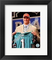 Framed Jake Long 2008 Draft Day - NFL Draft # 1 Pick