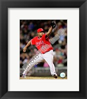 Framed Francisco Rodriguez 2008 Pitching Action