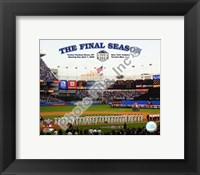 "Framed Yankee Stadium 2008 Opening Day With Overlay ""The Final Season"""