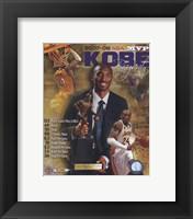 Framed Kobe Bryant 2008 MVP Portrait Plus; LA Lakers