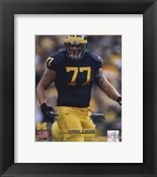 Framed Jake Long University of Michigan Wolverines; 2007 Action