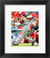 Framed Derrek Lee 2008 Batting Action
