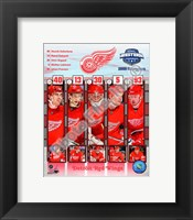 Framed 2008 Detroit Red Wings Western Conference Champions Composite