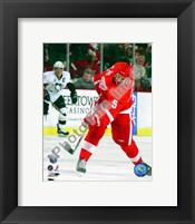 Framed Nicklas Lidstrom Game 1 of the 2008 NHL Stanley Cup Finals Action; #2