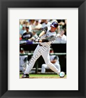 Framed Brad Hawpe 2008 Batting Action