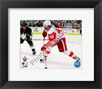 Framed Henrik Zetterberg, Game 4 Action of the 2008 NHL Stanley Cup Finals