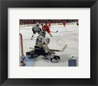 Framed Marc-Andre Fleury in Game 5 of the 2008 NHL Stanley Cup Finals; Action #17