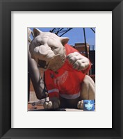 Framed Comerica Park Statue With Detroit Red Wings 2008 Stanley Cup Jersey