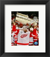 Framed Johan Franzen with the Stanley Cup, Game 6 of the 2008 NHL Stanley Cup Finals; #31