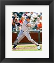 Framed Nick Swisher 2008 Batting Action