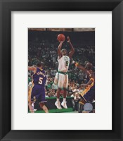 Framed Rajon Rondo, Game 1 of the 2008 NBA Finals; Action #3