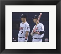 Framed Joe Mauer & Justin Morneau 2008 Group Shot