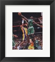 Framed Kevin Garnett, Game 4 of the 2008 NBA Finals; Action #16