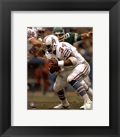 Framed Earl Campbell Rushing Action