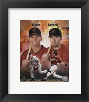 Framed Craig Biggio and Jeff Bagwell Portrait Plus, 1999