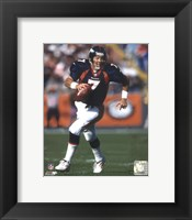 Framed John Elway Rolling Out, Action