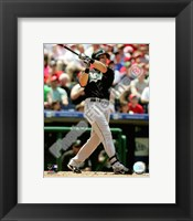 Framed Mike Jacobs 2008 Batting Action