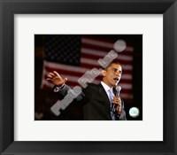 Framed Barack Obama Aberdeen Civic Arena May 31, 2008 in Aberdeen, South Dakota; #76