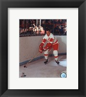 Framed Gordie Howe - Skating with puck