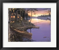 Framed Canoe at the Cabin