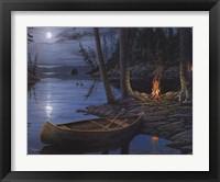 Framed Camp Fire Canoe