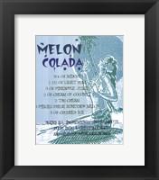 Framed Melon Colada