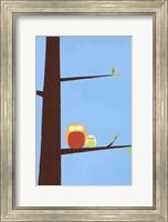 Framed Tree-top Owls I
